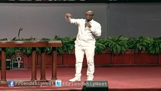 Rickey Smiley clowning at Friendship West