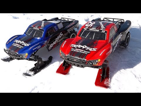 Xxx Mp4 Mother Son Drive Traxxas Slash Trucks With SKIS In SNOW FAMILY RC ADVENTURES 3gp Sex