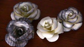 Como hacer Flores de papel (Rosas) facil