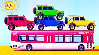 Truck Cars Colors for Kids - Learning Educational Video | Learn Toy Vehicles with Songs