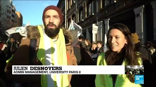 French students rally in support of