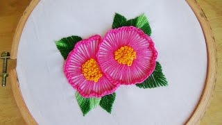 Hand Embroidery: Ruffle button hole stitch