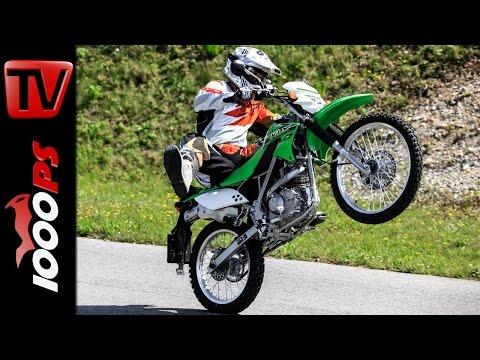 Kawasaki KLX 150 L 2014 - Test, Action, Stunts, Crash