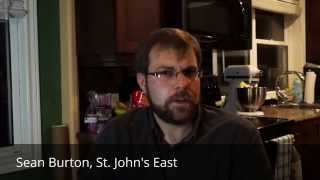 Sean Burton, running for the Communist Party of Canada in St. John's East