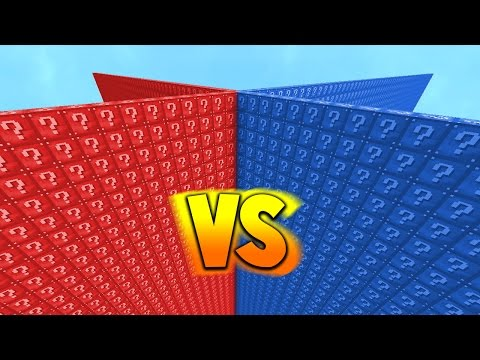 RED VS BLUE 2v2 LUCKY BLOCK WALLS Minecraft Mods