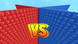 RED VS BLUE 2v2 LUCKY BLOCK WALLS! - Minecraft Mods