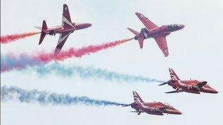 Red Arrows display at Biggin Hill Airshow