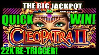 ♦️ NEVER BEFORE SEEN! ♦️ QUICK WIN on CLEOPATRA 2 BONUS ROUND with Re Trigger up to 22x!!!