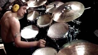 Keven Gauthier Wanderlost drummer - Drumcam Jam à Larouche Town - (Stranded)
