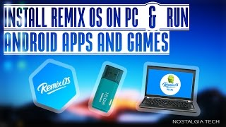 Install Remix OS on USB| RUN ANY ANDROID APPS AND GAMES (in five minutes)