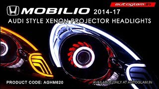 AGHM620, Honda Mobilio Audi Style Xenon HID Projector Headlights with 55watt HID