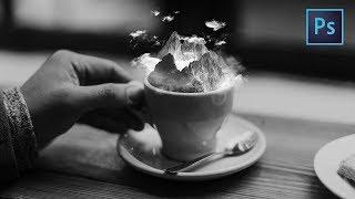 [Photoshop Manipulation] Mountain Iced Coffee - Surreal Art Tutorials