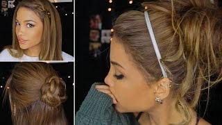 4 Cute & Lazy Winter Hairstyles!