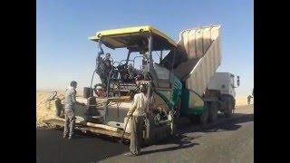 ريبورتاج 2 - مشروع إنشاء طريق سيوة جغبوب - الخطة القومية للطرق - شركة النيل لإنشاء الطرق