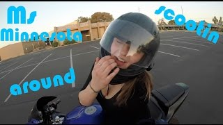 Girl rides a motorcycle!!