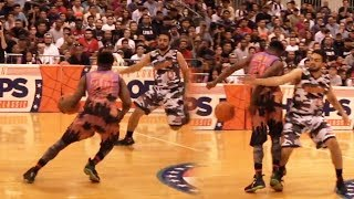 GOT EM WITH THE BEHIND THE BACK CROSSOVER! MY FIRST DOUBLE DOUBLE! (OVERTIME THRILLER SNEAKERCON)