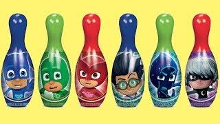 PJ MASKS Bowling Game Set with Catboy, Owlette & Gekko | Toys Unlimited
