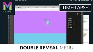 Double Reveal Menu Widget | Time-lapse | Adobe Muse CC | Muse For You
