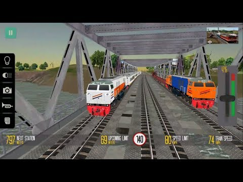 Indonesia Train Driving Game - Engine CC206 | Indonesian Train Simulator - Android & IOS GamePlay HD