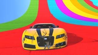RAINBOW BOWL RACE! - GTA 5 Funny Moments #687