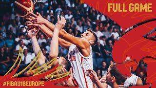 Montenegro v Serbia - Full Game - Semi-Final - FIBA U16 European Championship 2017