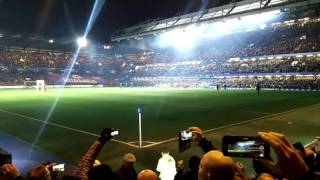 Chelsea theme song before the match