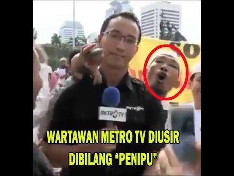 Menangis! Wartawan Metro TV disuraki Warga