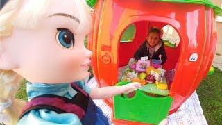 Elif kasiyer oldu, çilek markette alışveriş zamanı , eğlenceli çocuk videosu