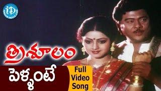 Trishulam Movie Songs - Pellante Pandillu Video Song || Krishnam Raju, Sridevi, Raadhika