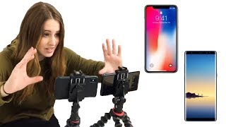 iPhone X vs Samsung Note 8 ✨ VIDEO TEST ✨