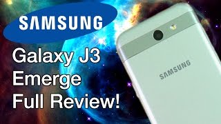 Galaxy J3 Emerge Full Review! (60FPS)