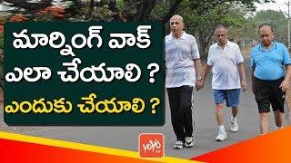 Benefits of Morning Walk | Best Morning Walk Health Tips in Telugu | YOYO TV Channel