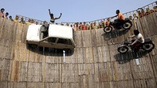 Extreme Indian car and Bike stunt !!