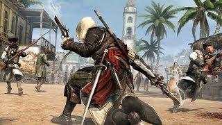 Assassin's Creed 4 Combat , Finishing Moves &  Free Roam