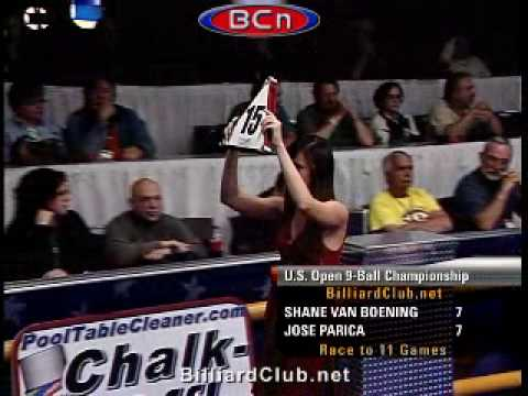Pro Championship 9 Ball Action Shane Van Boening vs. Jose Parica GREAT ENDING