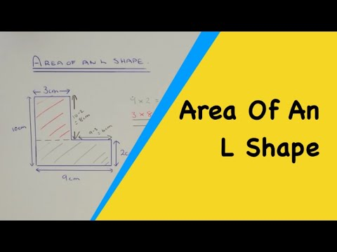 How to work out the area of a l shape (compound composite shapes)