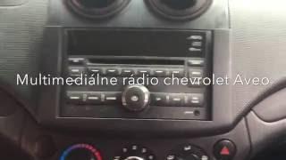 Chevrolet Aveo radio removal -Multimedia 2 DIN  radio