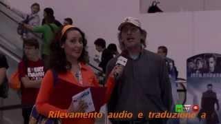 Romics XIV Edizione - Intervista a Manfred Stader (In Italiano) - 3D Street Artist - www.HTO.tv