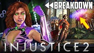 Injustice 2: Starfire Gameplay Trailer Full Breakdown!!