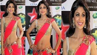 OMG ! Shilpa Shetty STUNNING GORGEOUS in LOW WAIST SAREE.