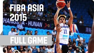 Philippines v India - Group E - Full Game - 2015 FIBA Asia Championship