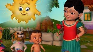 பூக்களிலும் புல்லின் மீதும் | Tamil Rhymes for Children | Infobells