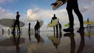 Learning how to surf IN SCOTLAND