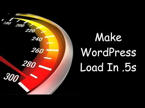 WordPress Speed Optimization: How I Got .5s Load Times