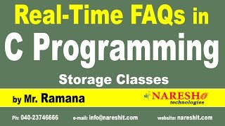 Storage Classes | C Technical Interview Questions and Answers | Mr. Ramana