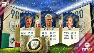 NEW PRIME ICON SQUAD BUILDING CHALLENGES! SCHMEICHEL HERNANDEZ AND PETIT | FIFA 18 ULTIMATE TEAM