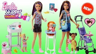 New Barbie Skipper Babysitters Inc Toys -  Barbie Baby Stroller, Crib and Highchair!