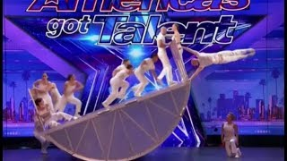 Diavolo: Danger & Acrobatic Group DEFY Human Nature | Auditions 2 | America's Got Talent 2017