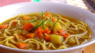Japanese Vegetable Curry Soup - Vegan Vegetarian Recipe