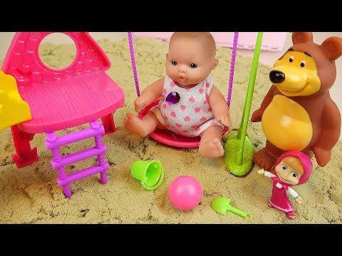 Xxx Mp4 Baby Doll And Marsha Bear Toy Sand Playground Surprise Eggs Play 3gp Sex